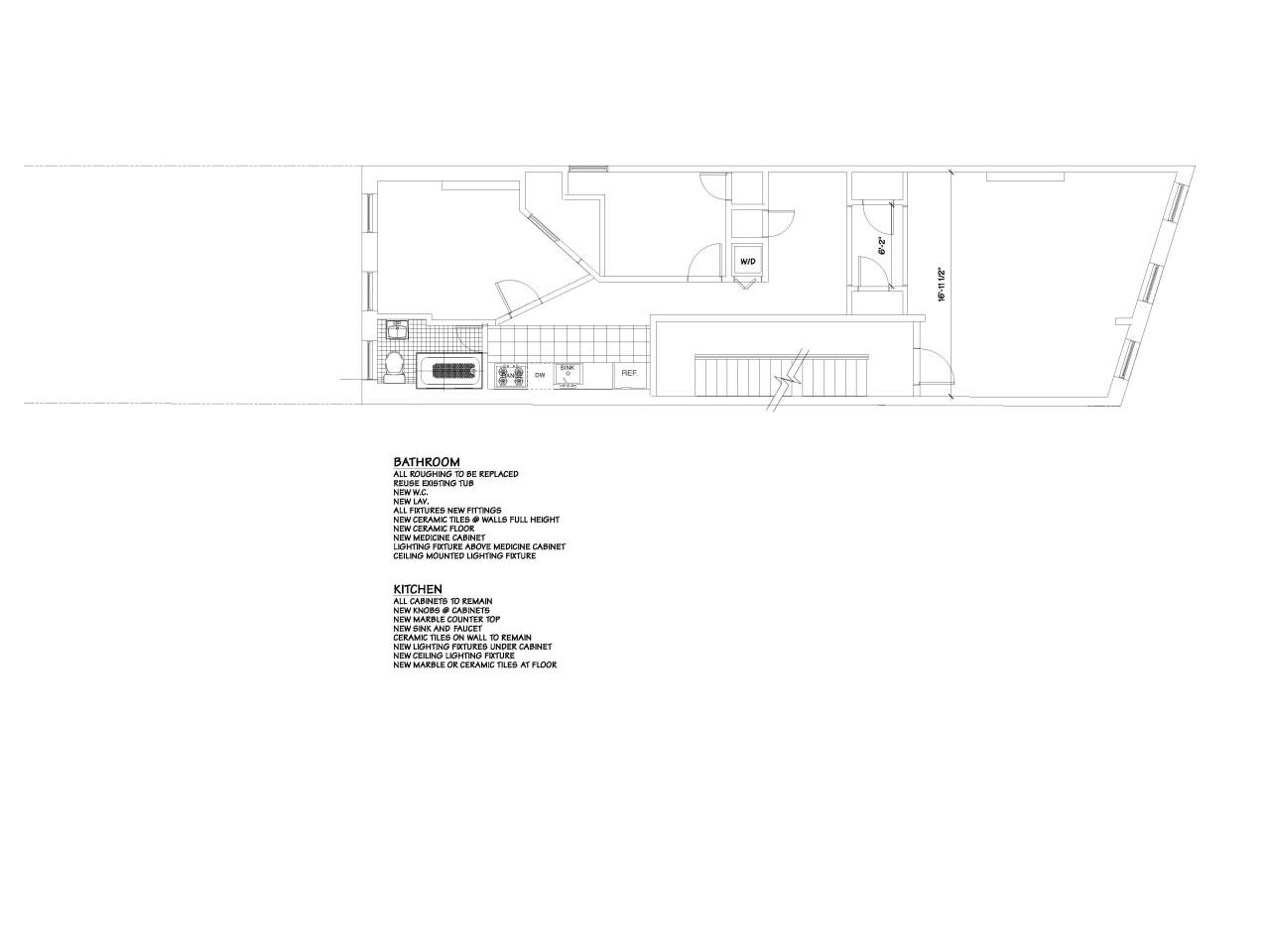 547 Hudson 1st Fl Apt Floorplan